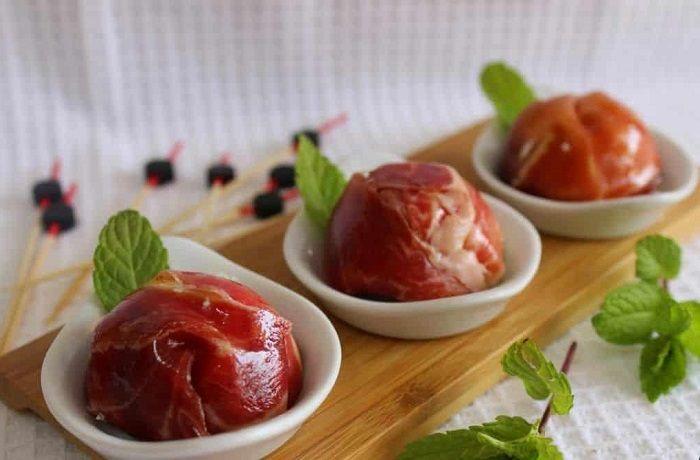 Receta de bombones de jamón ibérico de bellota