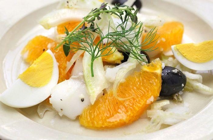 Receta de ensalada de bacalao y naranja