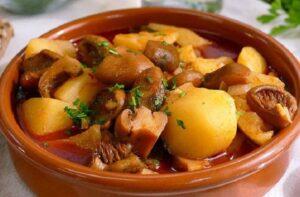 Receta de níscalos con patatas